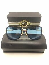 DITA MACH ONE DRX-2030-H NAVY TITANIUM With 18K GOLD SUNGLASSES 59-17-127 NEW!!!
