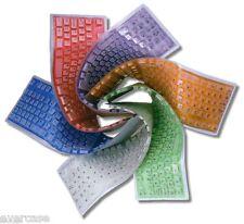Flexible Plegable Silicona Color Teclado PS2. Naranja Verde Azul Morado Rojo