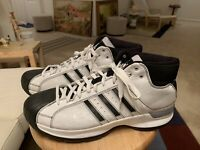 Adidas Pro Model G07683 White/Black Trim Men's US13 Shell Toe Athletic Shoes