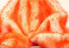 """Faux Fur fake orange Frosted tips fabric 60"""" Wide sold by the yard upholstery"""