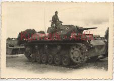 Q943 Foto Wehrmacht Frankreich Doubs Besançon Panzer III Emblem Kennung TOP !