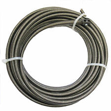 100 Ft Drain Auger Cable Replacement Cleaner Snake Clog Pipe Sewer Wire 3/8