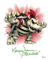KENNY JAMES Signed BOWSER 8x10 Photo Nintendo Super Mario Autograph JSA COA Cert