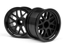 HPI 1/10 BBS Spoke Black 31mm On Road Wheel Rims 9mm Offet #109156 OZ RC Models