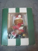 GIFTCO BEARS-A-GOING CHRISTMAS ORNAMENT BEAR ON TRICYCLE