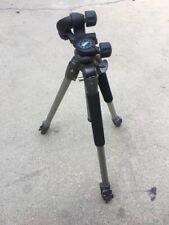 Calumet Aluminum Adjustable Camera Tripod Stand W/ 3437 Manfrotto Head