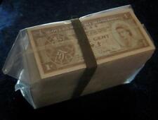 Hong Kong 1 Cent bundle brick  500 pieces  1971-81 325b   CU 500 pcs.