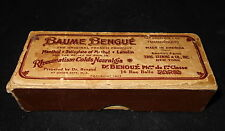 Old Advertising Box Baume Bengue French Product Made In America Leeming Ben Gay