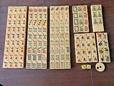 Mah Jong Royal Depth Control Set Handpainted 152 pcs 5 Racks 1 Bettor 2 dice