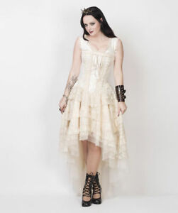 victorianisches Korsettkleid lightning Shannon Steampunk elfenbein Kleid