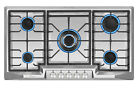 """Empava 36"""" Gas Cooktop 5 Burners Built-in Stove Stainless Steel 110V Cooker #881 photo"""