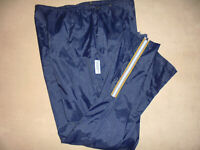 italy vintage Runners Point Nylon Hose 90s Regenhose glanz pants jogger blau XL