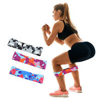 HO_ Camouflage Hip Resistance Band Workout Exercise Elastic Band Fitness Tube Ey