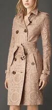 Burberry Alington Lace Macrame Cotton Nude Trench Coat Jacket US 10 Large $2995
