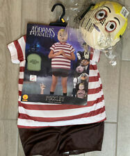 New Kid Child Addams Family Pugsley Halloween Dress Up Costume Size Small 4-6