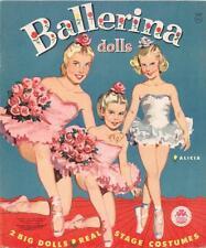 Vintage 1960 Ballerina Paper Doll ~Beautiful Hd Laser Reproductin~Orig Sz Uncuts