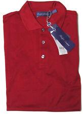 Ralph Lauren Purple Label Mens Cotton Knit Italy Button Polo Sport Shirt New