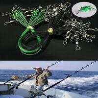 20PCS Anti-mordedura Alambre De Cuerda Línea De Pesca Anzuelo Seguridad Snap