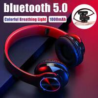 bluetooth 5.0 LED Gaming Headset Wireless Kopfhörer für PC Laptop Xbox One *