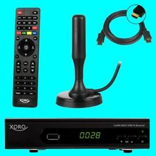 HD DVB-T2 Receiver + 20 dB ANTENNE ✔ Xoro 7620 ✔ PVR ✔ USB ✔ HDTV ✔ H.265 ✔
