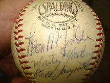 1942 St. Louis Browns Team Signed Baseball Auto Vintage Ball Luke Sewell