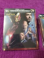 Iron Man Limited Edition Steelbook 4K Ultra HD + Blu-ray + Digital HD new sealed