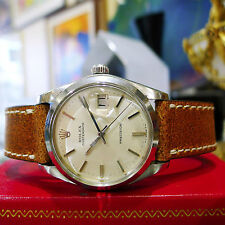 Mens Vintage ROLEX Oyster Date Precision 6694 Stainless Steel Watch Circa 1975