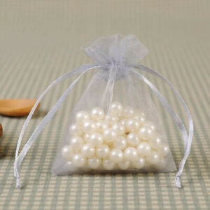 100pcs Organza Wedding Party Favor Gift Candy Sheer Bags Jewelry Pouches Lot