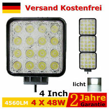 4X 48W LED Arbeitsscheinwerfer Baustrahler Licht Lampe Offroad LKW KFZ 12 Volt