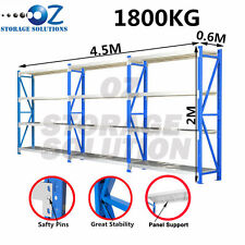 Longspan Shelving Garage Warehouse Storage Metal Steel Rack 2M x 4.5M x 0.6M