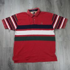 eda978e9768 Mens Vintage 90s Tommy Hilfiger Crest Colour Block Polo Shirt XL Logo Jeans  2423