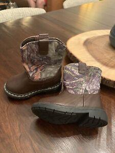 NEWGaranimals Mossy Oak Infant Toddler Camouflage Hunting Western Cowboy Boots 4
