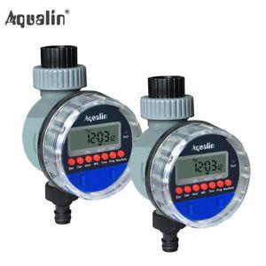 2pcs Electronic LCD Display Water Tap Timer Garden Irrigation Controller