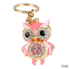 Pretty Owl Keychain Crystal Key Ring Chain Purse Charm Pendant Gift For Women