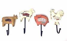 Farmers Market Farm Animals Decorative Hooks