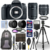 Canon EOS 77D DSLR Camera + 18-55mm STM + 55-250mm STM 4 Lens 32GB Valued Kit