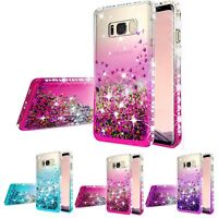 For Samsung Galaxy Note 5 Hybrid Luxury Liquid Glitter Bling Phone Case Cover
