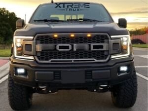 Black Grille For 18-20 Ford F150 LED SVT Style Replacement with Letters