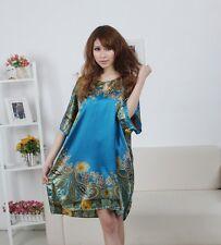 Ladies Sleepwear Robe Oriental Kaftan Paisley Yukata Pyjama Nightgown Nightwear