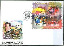 SOLOMON ISLANDS 2013 GREAT IMPRESSIONISTS  PAUL GAUGIN SHEET FDC