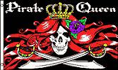 Large 3'x5' Sand Rail, Utv, Rv, Home, Flag - Pirate Queen Skull