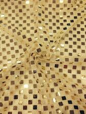 "SQUARE SEQUIN LUREX JERSEY DISCO DANCE FANCY DRESS FABRIC MATERIAL 38""  M67 Mtex"