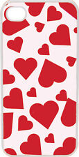 Valentine's Pink and Red Heart Love Collage iPhone 4 4s Case Cover