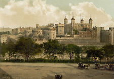 "PS31 Vintage 1890's Photochrom Photo Tower Of London England Print A3 17""x12"""
