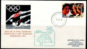 Seychelles Flight Cover 22.07.1992 Olympia Barcelona Air Seychelles