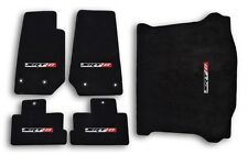 2014-2015 Jeep Cherokee SRT 8 Black Velourtex Carpet - 5pc Mat Set - SRT 8 Logo