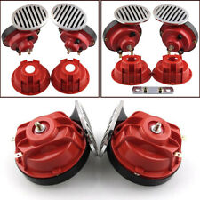 1 Pair Dual 12V Super Loud 135dB Metal Air Horn Trumpet  For Car Truck Boat