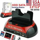 HDD Docking Station IDE SATA Dual USB 2.0 Clone Hard Drive Card Reader USA