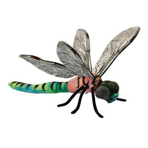 HANSA DRAGONFLY WINGED INSECT REALISTIC CUTE SOFT ANIMAL PLUSH TOY 33cm **NEW**