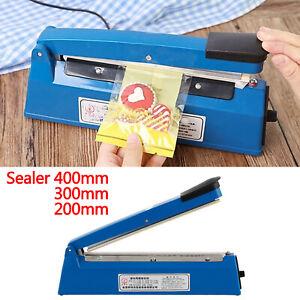 Impulse Heat Sealer Plastic Bag Film Sealing Machine Metal 200mm 300mm 400mm UK